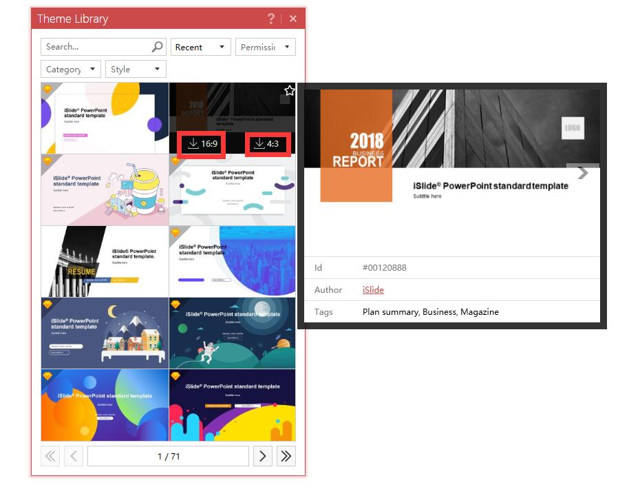 Themes, designs, and Icons for PowerPoint presentation download free