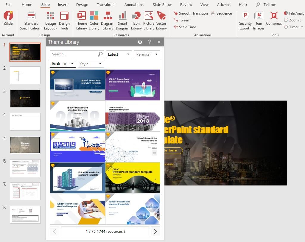 Free Professional Business PowerPoint Templates - iSlide - Make